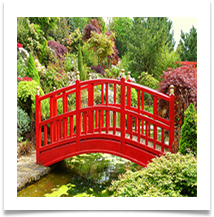 03 - Ornamental bridge in Kelsall garden - Rob Sparkes