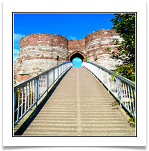 06 - Modern drawbridge into Beeston Castle - Rob Sparkes