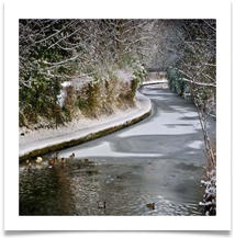 CANAL IN WINTER - Des Hawley