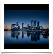 Evening at Media City - Bill Rigby