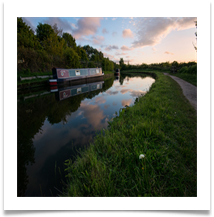 Evening on the canal - Bill Rigby