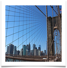 Manhattan from Brooklyn Bridge -Helen Kulczycki